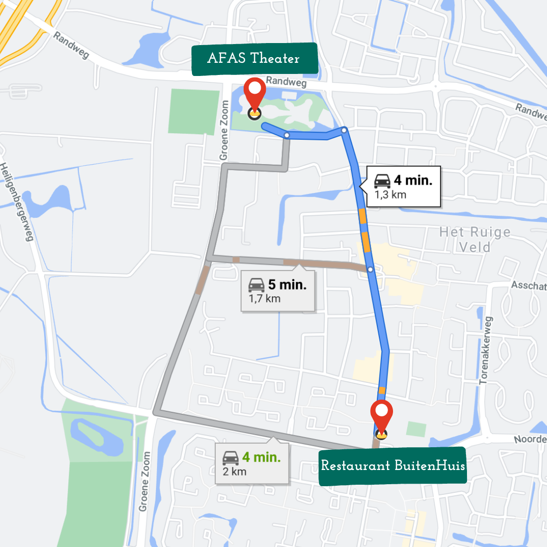 AFAS-theater-route